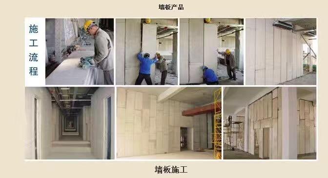 巨能轻质隔墙板安装流程和示意图